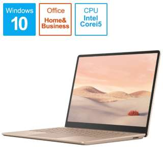 THJ-00045 Surface Laptop Go(サーフェス ラップトップ ゴー) サンドストーン [12.4型 /intel Core i5 /SSD:256GB /メモリ:8GB /2020年10月モデル]