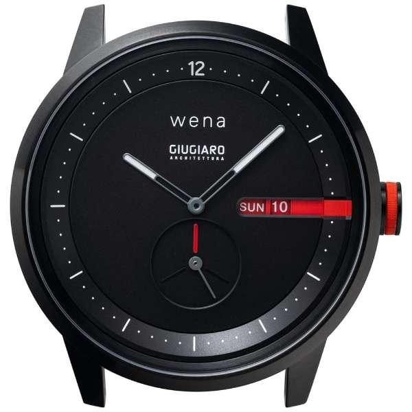 wena Three Hands Premium Black desinged by Giugiaro Architettura ブラック WNW-HT41/B