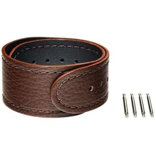 【wena3専用のアクセサリー】wena 3 leather band 20mm Brown ブラウン WNW-CB2120/T