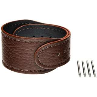 【wena3専用のアクセサリー】wena 3 leather band 24mm Brown ブラウン WNW-CB2124/T