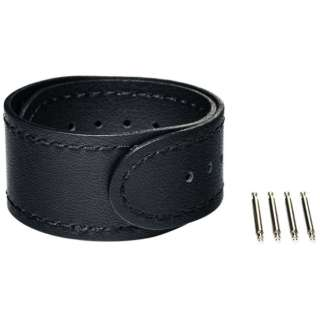 【wena3専用のアクセサリー】wena 3 leather band 20mm Premium Black ブラック WNW-CB2120/B