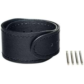 【wena3専用のアクセサリー】wena 3 leather band 22mm Premium Black ブラック WNW-CB2122/B