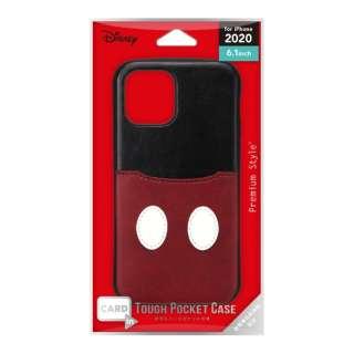 iPhone 12/12 Pro 6.1インチ対応タフポケットケース ミッキーマウス Premium Style PG-DPT20G01MKY