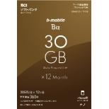 ナノSIM ソフトバンク回線「b-mobile Biz SIMパッケージ (SB/iPhone用ナノ)」 BS-IPNPC-30G12MN