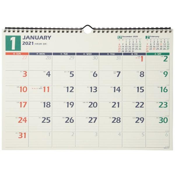 C115 NOLTY(ノルティ) カレンダー2021 壁掛け 14 日曜始まり[2021年1月始まり]