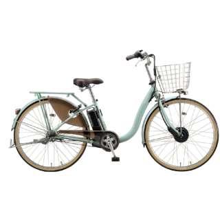 電動アシスト自転車 FRONTIA フロンティアデラックス E.Xグレイッシュミント F4DB41 [3段変速 /24インチ] 【組立商品につき返品不可】