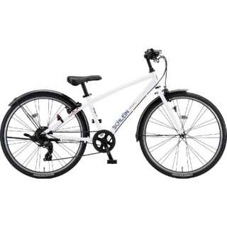 26型 子供用自転車 シュライン(P.Xオーロラホワイト/外装7段変速) SHL61【2021年モデル】 【組立商品につき返品不可】