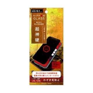 iPhone 12/12 Pro 6.1インチ対応 [NIPPON GLASS] 超神硬 2倍強化 覗き見防止 TY-IP20M-GL-GNPVCC