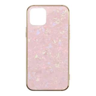 iPhone 12/12 Pro 6.1インチ対応 ケース Glass Shell Case ピンク UNI-CSIP20L-0GSPK