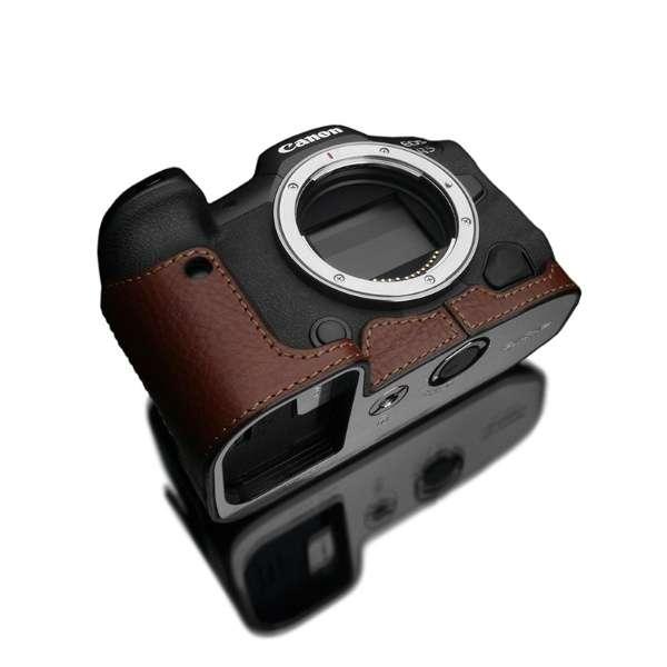 Canon EOS R5/R6 兼用 本革カメラケース ブラウン XS-CHEOSR5BR