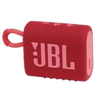 ブルートゥース スピーカー レッド JBLGO3RED [防水 /Bluetooth対応]