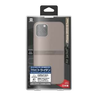 iPhone 12/12 Pro 6.1インチ対応ケース Air jacket Smoke matte POWER SUPPORT(パワーサポート) スモークマット PPBK-70
