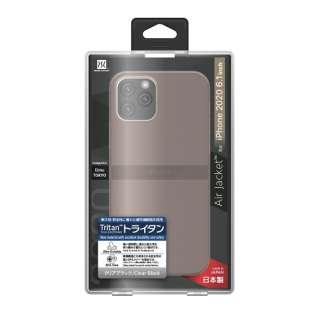 iPhone 12/12 Pro 6.1インチ対応ケース Air jacket Clear Black POWER SUPPORT(パワーサポート) クリアブラック PPBK-73