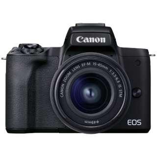 EOS Kiss M2 ミラーレス一眼カメラ EF-M15-45 IS STM レンズキット ブラック [ズームレンズ]
