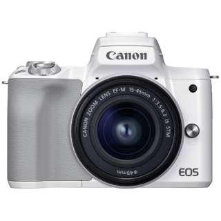 EOS Kiss M2 ミラーレス一眼カメラ EF-M15-45 IS STM レンズキット ホワイト [ズームレンズ]