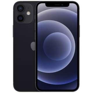 【SIMフリー】iPhone 12 mini A14 Bionic 5.4型 ストレージ:64GB デュアルSIM(nano-SIMとeSIM) MGA03J/A ブラック
