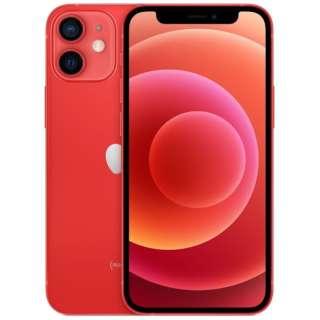 【SIMフリー】iPhone 12 mini A14 Bionic 5.4型 ストレージ:64GB デュアルSIM(nano-SIMとeSIM) MGAE3J/A (PRODUCT)RED