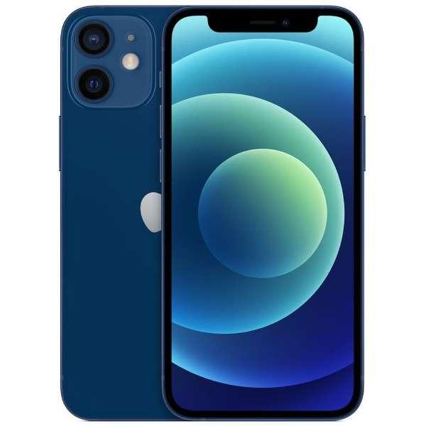 【SIMフリー】iPhone 12 mini A14 Bionic 5.4型 ストレージ:64GB デュアルSIM(nano-SIMとeSIM) MGAP3J/A ブルー