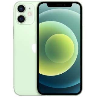【SIMフリー】iPhone 12 mini A14 Bionic 5.4型 ストレージ:64GB デュアルSIM(nano-SIMとeSIM) MGAV3J/A グリーン