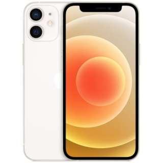 【SIMフリー】iPhone 12 mini A14 Bionic 5.4型 ストレージ:128GB デュアルSIM(nano-SIMとeSIM) MGDM3J/A ホワイト
