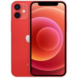 【SIMフリー】iPhone 12 mini A14 Bionic 5.4型 ストレージ:256GB デュアルSIM(nano-SIMとeSIM) MGDU3J/A (PRODUCT)RED