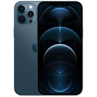 【SIMフリー】iPhone 12 Pro Max A14 Bionic 6.7型 ストレージ:512GB デュアルSIM(nano-SIMとeSIM) MGD63J/A パシフィックブルー