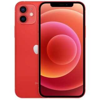 【SIMフリー】iPhone 12 A14 Bionic 6.1型 ストレージ:64GB デュアルSIM(nano-SIMとeSIM) MGHQ3J/A (PRODUCT)RED