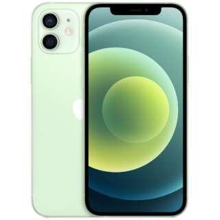 【SIMフリー】iPhone 12 A14 Bionic 6.1型 ストレージ:64GB デュアルSIM(nano-SIMとeSIM) MGHT3J/A グリーン