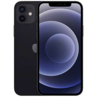 【SIMフリー】iPhone 12 A14 Bionic 6.1型 ストレージ:128GB デュアルSIM(nano-SIMとeSIM) MGHU3J/A ブラック