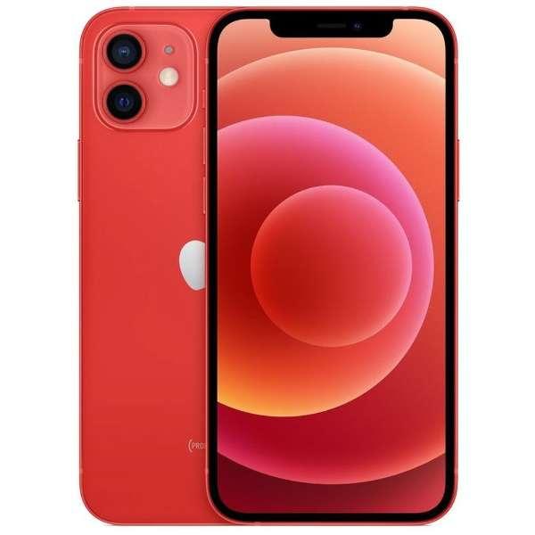 【SIMフリー】iPhone 12 A14 Bionic 6.1型 ストレージ:128GB デュアルSIM(nano-SIMとeSIM) MGHW3J/A (PRODUCT)RED