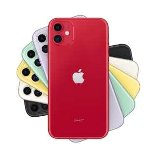 【SIMフリー】Apple iPhone 11 A13 Bionic 6.1型 ストレージ:64GB デュアルSIM(nano-SIMとeSIM)MHDD3J/A(PRODUCT)RED(AC・イヤホン同梱無)