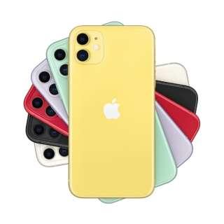 【SIMフリー】Apple iPhone 11 A13 Bionic 6.1型 ストレージ:64GB デュアルSIM(nano-SIMとeSIM)MHDE3J/A イエロー(AC・イヤホン同梱無)