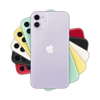 【SIMフリー】Apple iPhone 11 A13 Bionic 6.1型 ストレージ:64GB デュアルSIM(nano-SIMとeSIM)MHDF3J/A パープル(AC・イヤホン同梱無)