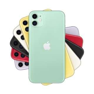 【SIMフリー】Apple iPhone 11 A13 Bionic 6.1型 ストレージ:64GB デュアルSIM(nano-SIMとeSIM)MHDG3J/A グリーン(AC・イヤホン同梱無)