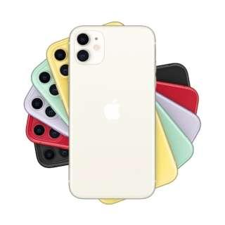 【SIMフリー】Apple iPhone 11 A13 Bionic 6.1型 ストレージ:128GB デュアルSIM(nano-SIMとeSIM)MHDJ3J/A ホワイト(AC・イヤホン同梱無)