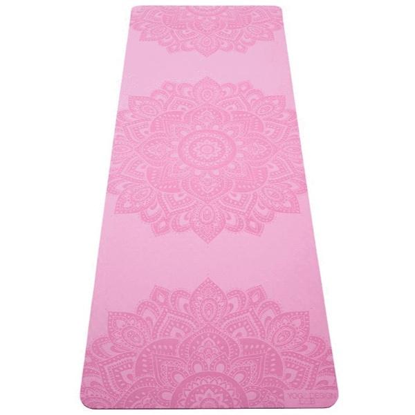 Yoga Design Lab (ヨガデザインラボ) ヨガマット 厚さ6mm フローマット 軽量 ストラップ付 ピラティス トレーニング フィットネス エクササイズマット(Mandala Rose)