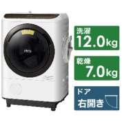 ドラム式洗濯乾燥機 ビッグドラム ホワイト BD-NBK120FR-W [洗濯12.0kg /乾燥7.0kg /ヒートリサイクル乾燥 /右開き]