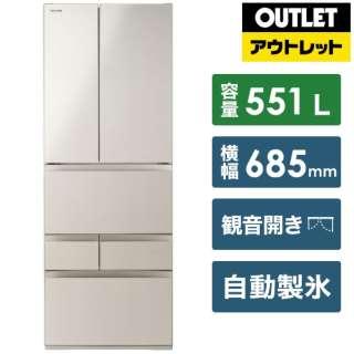 【アウトレット品】 GR-S550FH-EC 冷蔵庫 サテンゴールド [6ドア /観音開きタイプ /551L] 【生産完了品】