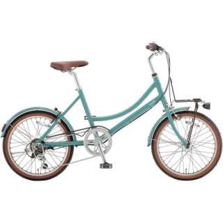 20型 自転車 ミニベロ ビ・ライフ206(スモーキーグリーン/外装6段変速) FBP206【2021年モデル】 【組立商品につき返品不可】