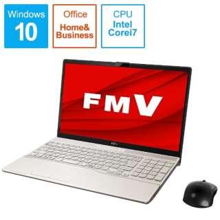 ノートパソコン LIFEBOOKAH53/E3 シャンパンゴールド FMVA53E3G [15.6型 /intel Core i7 /SSD:512GB /メモリ:8GB /2020年冬モデル]
