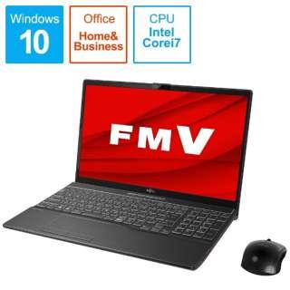 FMVA77E3B ノートパソコン LIFEBOOK AH77/E3 ブライトブラック [15.6型 /intel Core i7 /SSD:1TB /メモリ:8GB /2020年冬モデル]