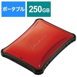 ESD-ZSA0250GRD 外付けSSD USB-A接続 (PS4対応) レッド [250GB /ポータブル型]