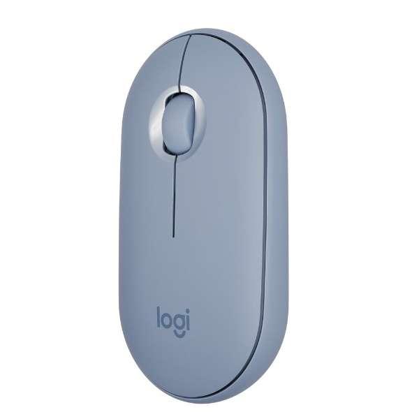 M350BL マウス Pebble M350 ブルーグレー [光学式 /3ボタン /Bluetooth・USB /無線(ワイヤレス)]