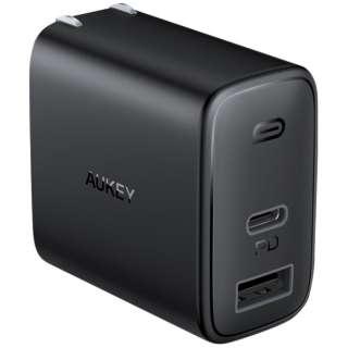 AUKEY(オーキー) USB充電器  Swift Duo 32W PD対応 [USB-A 1ポート/USB-C 1ポート] ブラック AUKEY(オーキー) Black PA-F3S-BK