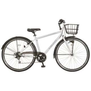 27型 ノーパンク自転車 HEAD×CHACLE PRESTEZZA プレステッツァ ノーパンク カゴ付きクロスバイク(マットホワイト/外装6段変速) CRT-CCHE276PRHDR-BAA 【組立商品につき返品不可】