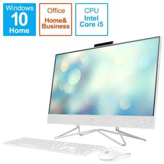 9EH12AA-AAAB デスクトップパソコン HP All-in-One 24-df0202jp-OHB ピュアホワイト [23.8型 /intel Core i5 /HDD:2TB /SSD:256GB /メモリ:8GB /2020年11月モデル]