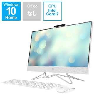180Q3AA-AAAA デスクトップパソコン HP All-in-One 24-df0043jp ピュアホワイト [23.8型 /intel Core i7 /メモリ:16GB /HDD:2TB /SSD:256GB /2020年11月モデル]