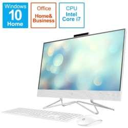 デスクトップパソコン HP All-in-One 24-df0043jp-OHB ピュアホワイト 180Q3AA-AAAB [23.8型 /intel Core i7 /メモリ:16GB /HDD:2TB /SSD:256GB /2020年11月モデル]