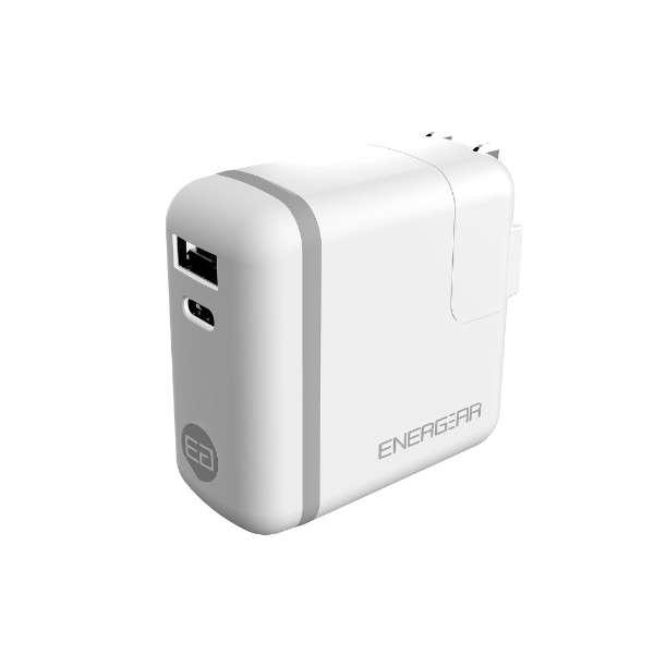 AC - USB充電器 ノートPC・タブレット対応 30W [2ポート:USB-C+USB-A /USB Power Delivery対応] ホワイト GP-ACCA30SR/W