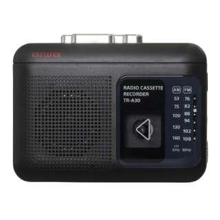 ラジオ付きカセットレコーダー ブラック TR-A30B [ラジオ機能付き]
